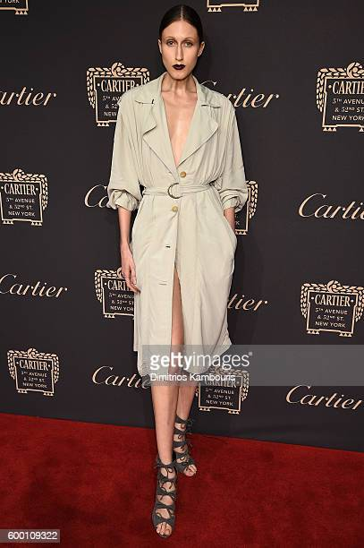 Anna Cleveland attends the Cartier Fifth Avenue Grand Reopening Event at the Cartier Mansion on September 7 2016 in New York City