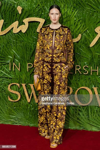 Anna Cleveland attends the Fashion Awards 2017 In Partnership With Swarovski at Royal Albert Hall on December 4 2017 in London England