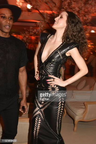 Anna Cleveland attends the Kenzo Takada Birthday Party as part of the Paris Fashion Week Womenswear Fall/Winter 2019/2020 on February 28 2019 in...
