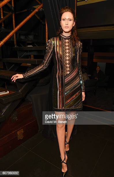 Anna Cleveland attends the launch of model Pat Cleveland's new book Walking With The Muses at Blakes Below on September 17 2016 in London United...