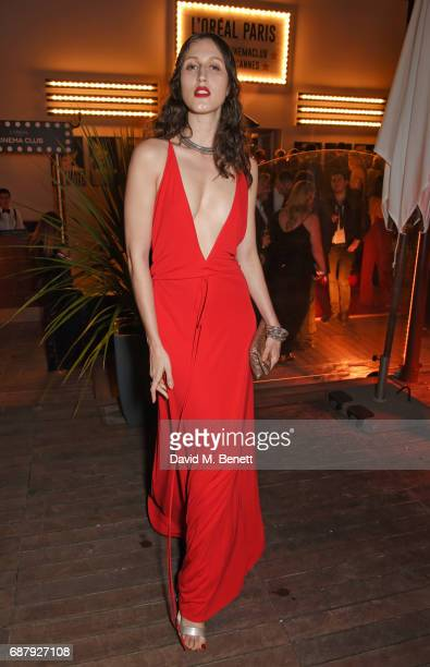 Anna Cleveland attends the L'Oreal Paris Cinema Club party celebrating L'Oreal's 20th anniversary as the official beauty partner of the Cannes Film...