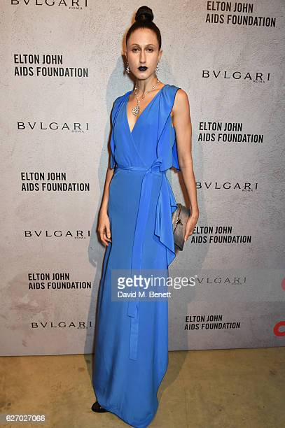 Anna Cleveland attends 'The Radical Eye' dinner and private view for the Elton John Aids Foundation in association with Bulgari on December 1 2016 in...