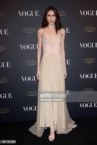 Anna Cleveland attends the Vogue 95th Anniversary Party Photocall as part of the Paris Fashion Week Womenswear Spring/Summer 2016 on October 3 2015...
