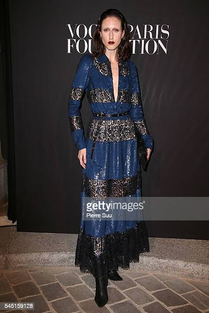 Anna Cleveland attends the Vogue Foundation Gala 2016 at Palais Galliera on July 5 2016 in Paris France