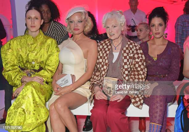 Anna Cleveland Pamela Anderson Dame Vivienne Westwood and Halsey attend the Andreas Kronthaler For Vivienne Westwood Womenswear Spring/Summer 2020...