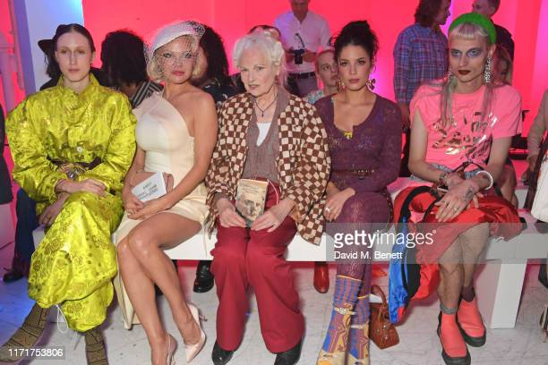 Anna Cleveland Pamela Anderson Dame Vivienne Westwood Halsey and Matty Bovan attend the Andreas Kronthaler For Vivienne Westwood Womenswear...