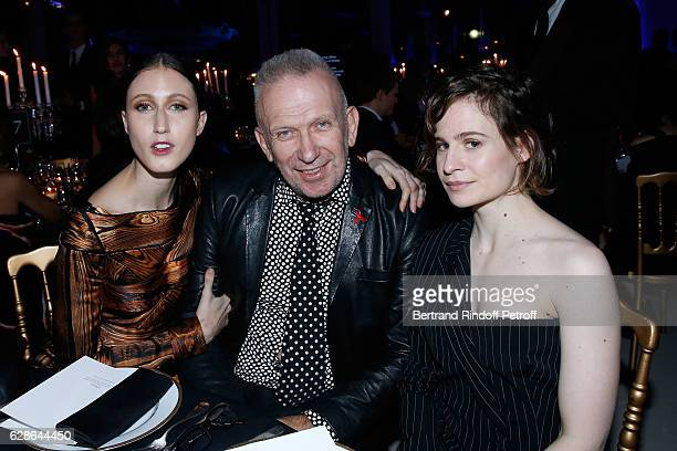 Anna Cleveland stylist JeanPaul Gaultier and singer of 'Christine and the Queens' Eloise Letissier dressed in JeanPaul Gaultier attend the Annual...