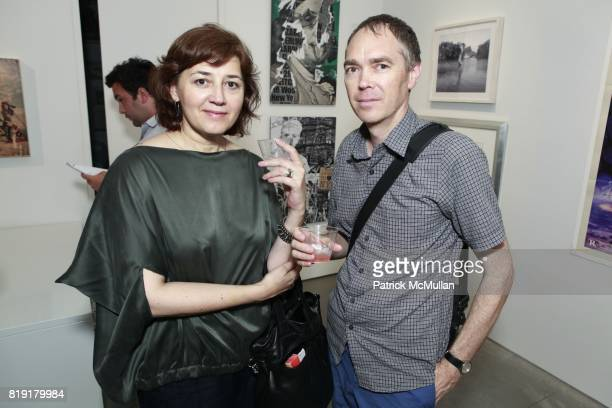 Anna Cosentino and Steve Butcher attend INSPIRED Exhibition Curated By Beth Rudin DeWoody at Steven Kasher Gallery on July 14 2010 in New York City