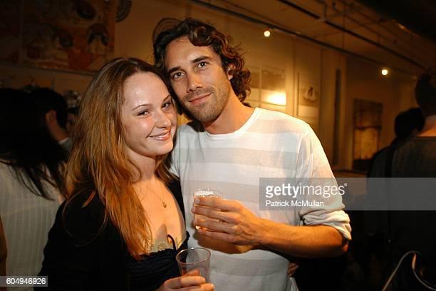 Anna Davis and Bjorn Ioss attend Matt Jones Opening at CVZ Contemporary on September 27 2006 in New York City