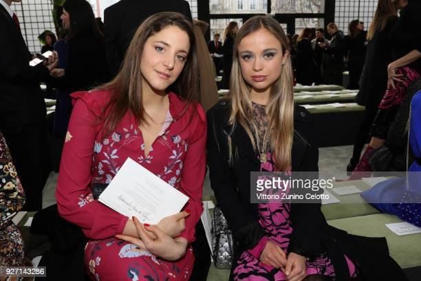 Anna de Pahlen and Amelia Windsor attend the Valentino show as part of the Paris Fashion Week Womenswear Fall/Winter 2018/2019 on March 4 2018 in...
