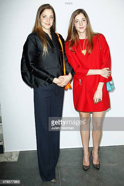 Anna de Pahlen and Sofia de Pahlen attend the Gaia Repossi's Jewelry Collection launch at Jeu de Paume as part of the Paris Fashion Week Womenswear...