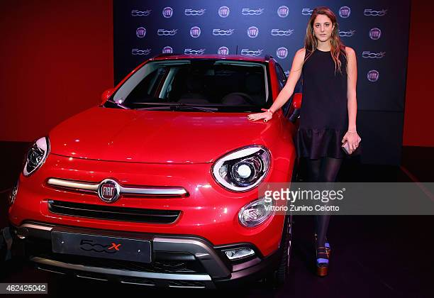 Anna de Pahlen attends the Fiat 500X The Power of X with Dynamo performance at the Copper Box Arena Queen Elizabeth Olympic Park on January 28 2015...