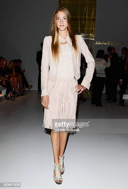 Anna De Pahlen attends the Salvatore Ferragamo Spring/Summer 2013 fashion show as part of Milan Womenswear Fashion Week at Palazzo Mezzanotte on...