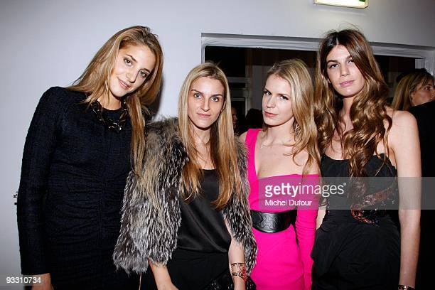 Anna de pahlen Gaya Repossi Eugenie Niarchos and Bianca Brandolini attend the OTM Association dinner hosted by Babeth Djian and Pierre Pelegry to...