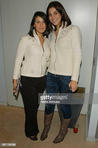 Anna De Souza and Merideth Rommelfanger attend 66 North Iceland and GQ hosts the Iceland Experience at 66 North NYC USA on November 16 2005