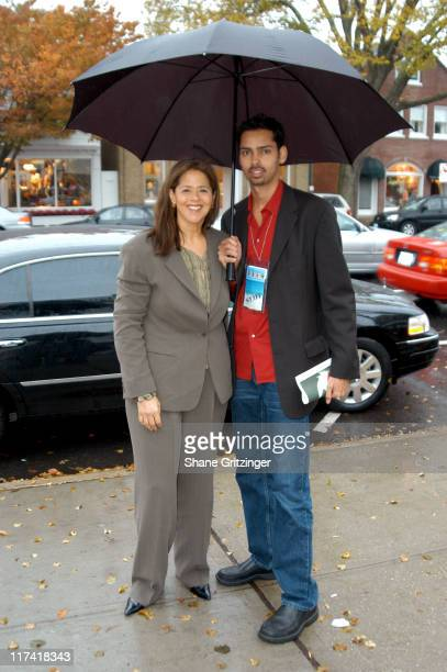 """Anna Deavere Smith and Raj Roy during The 11th Annual Hamptons International Film Festival - """"The Human Stain"""" Screening at Easthampton United..."""