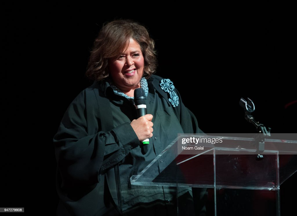 Anna Deavere Smith speaks at the 2018 New York Live Arts Gala at Irving Plaza on April 16, 2018 in New York City.