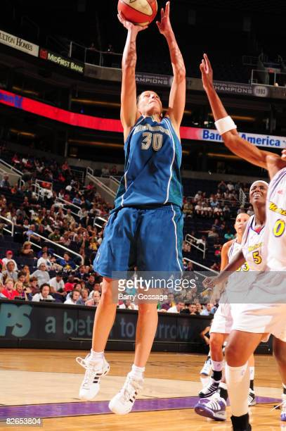 Anna DeForge of the Minnesota Lynx shoots against the Phoenix Mercury at US Airways Center September 3 2008 in Phoenix Arizona NOTE TO USER User...