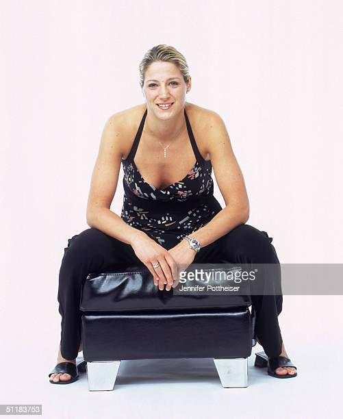 Anna DeForge of the Phoenix Mercury poses for a WNBA Portrait at Westin Hotel on August 4 2004 in New York New York NOTE TO USER User expressly...