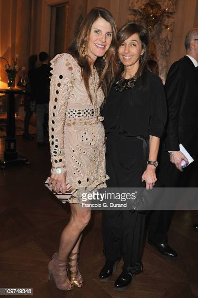 Anna Dello Russo and designer Consuelo Castiglioni attend the Joyce Hong Kong 40th Anniversary - Intimate Dinner Hosted By Keith Of Joyce & Angelica...