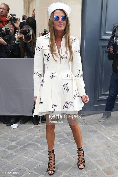 Anna Dello Russo arrives at the Christian Dior show as part of the Paris Fashion Week Womenswear Spring/Summer 2017 on September 30 2016 in Paris...