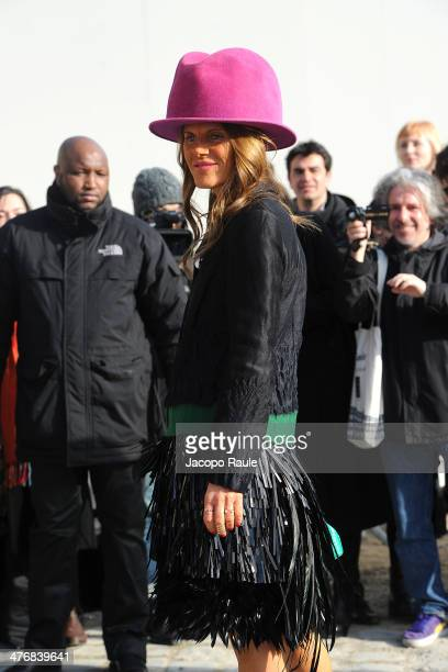 Anna Dello Russo arrives at the Louis Vuitton show as part of the Paris Fashion Week Womenswear Fall/Winter 20142015 on March 5 2014 in Paris France