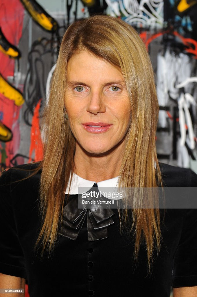 Anna Dello Russo attends Cardi Black Box Gallery Present Nicolas Pol hosted by Nicolo Cardi And Vladimir Restoin Roitfeld at Cardi Black Box on October 14, 2013 in Milan, Italy.