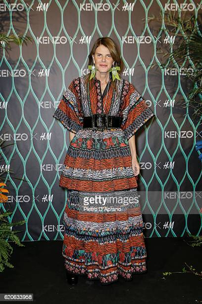 Anna Dello Russo attends KENZO X HM Milan Launch Party on November 2 2016 in Milan Italy