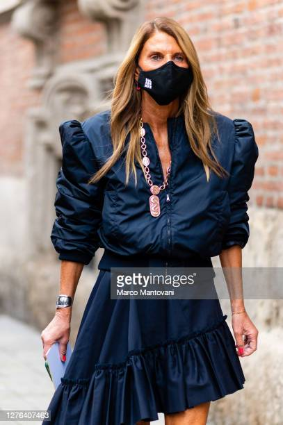 Anna Dello Russo attends Max Mara's fashion show during the Milan Women's Fashion Week on September 24 2020 in Milan Italy