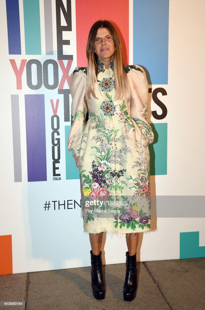 Anna Dello Russo attends Next Talents Vogue during Milan Fashion Week FW17 on February 22, 2017 in Milan, Italy.