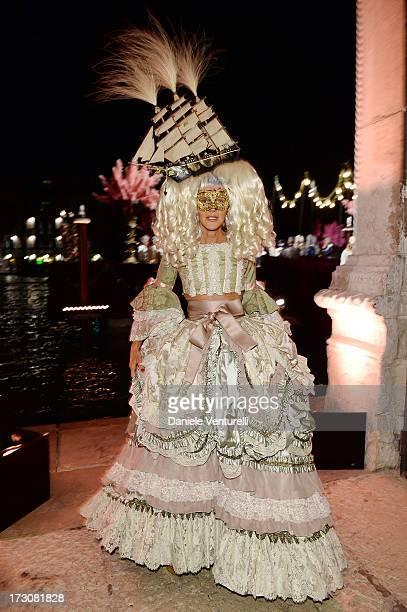 Anna Dello Russo attends the 'Ballo in Maschera' to Celebrate DolceGabbana Alta Moda at Palazzo Pisani Moretta on July 6 2013 in Venice Italy