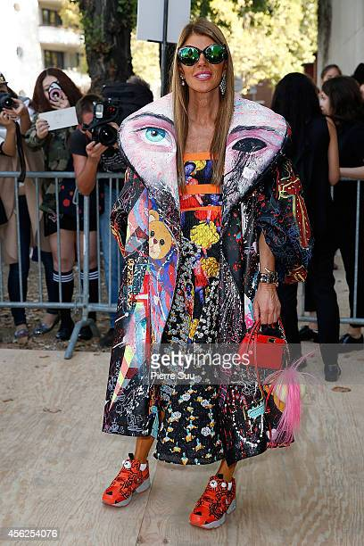 Anna Dello Russo Attends the Celine show as part of the Paris Fashion Week Womenswear Spring/Summer 2015 on September 28 2014 in Paris France