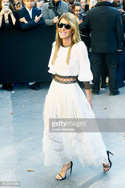 Anna Dello Russo attends the Chanel show as part of the Paris Fashion Week Womenswear Spring/Summer 2017 on October 4 2016 in Paris France