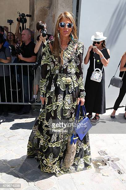 Anna dello Russo attends the Christian Dior show as part of Paris Fashion Week Haute Couture Fall/Winter 2015/2016 on July 6 2015 in Paris France