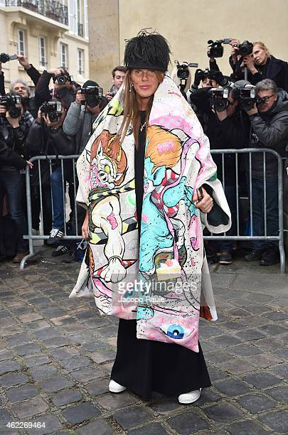 Anna Dello Russo attends the Dior show as part of Paris Fashion Week Haute Couture Spring/Summer 2015 on January 26 2015 in Paris France