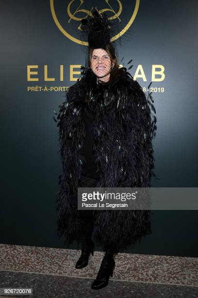 Anna Dello Russo attends the Elie Saab show as part of the Paris Fashion Week Womenswear Fall/Winter 2018/2019 on March 3, 2018 in Paris, France.