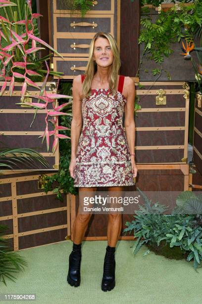 Anna Dello Russo attends the Etro fashion show during the Milan Fashion Week Spring/Summer 2020 on September 20 2019 in Milan Italy