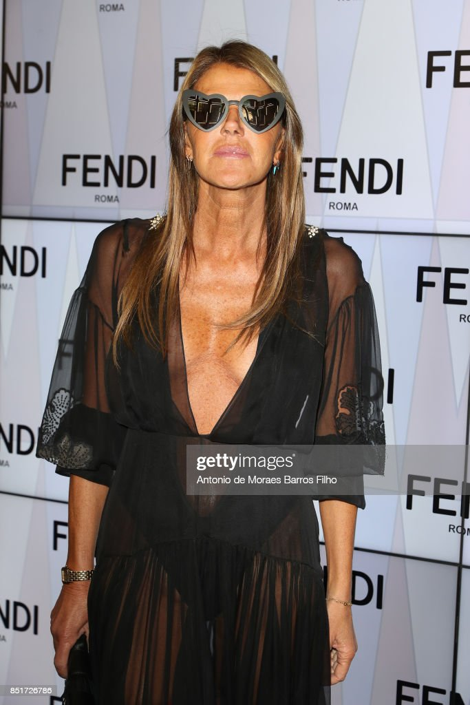 25cdceeb1c57 Fendi - Front Row - Milan Fashion Week Spring Summer 2018   News Photo
