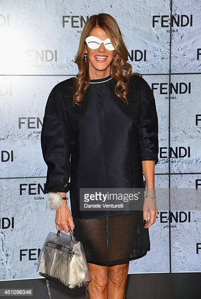 da4e314e43c3 Anna Dello Russo attends the Fendi show during Milan Menswear Fashion Week  Spring Summer 2015 on