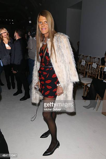 Anna Dello Russo attends the Giambattista Valli show as part of Paris Fashion Week Haute Couture Spring/Summer 2014 on January 20 2014 in Paris France