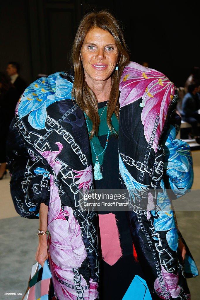 96446eae5b1 Anna Dello Russo attends the Giambattista Valli show as part of the Paris  Fashion Week Womenswear