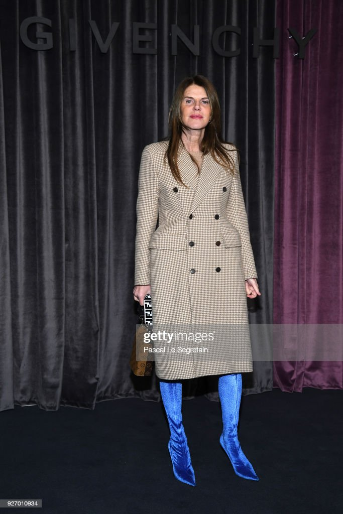 Anna Dello Russo attends the Givenchy show as part of the Paris Fashion Week Womenswear Fall/Winter 2018/2019 on March 4, 2018 in Paris, France.