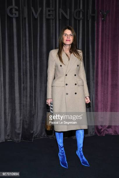 Anna Dello Russo attends the Givenchy show as part of the Paris Fashion Week Womenswear Fall/Winter 2018/2019 on March 4 2018 in Paris France