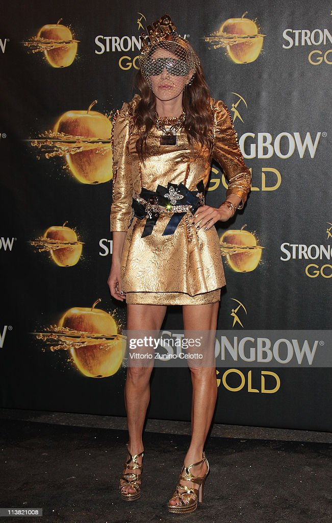 Anna Dello Russo attends 'The Gold Experience' red carpet on May 6, 2011 in Milan, Italy.