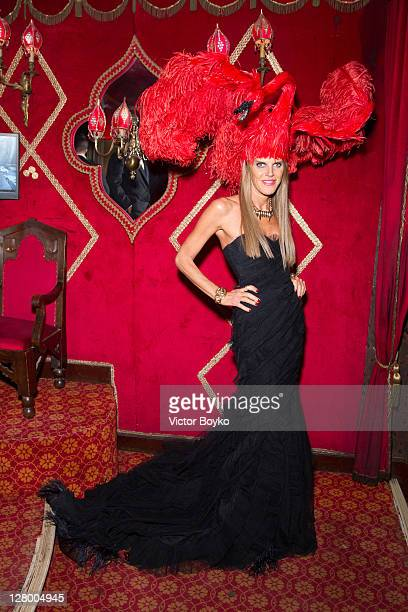 Anna Dello Russo attends the Irreverent Dinner hosted by Carine Roitfeld at Cabaret Raspoutine on October 4 2011 in Paris France
