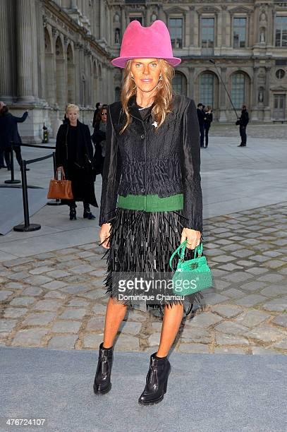 Anna Dello Russo attends the Louis Vuitton show as part of the Paris Fashion Week Womenswear Fall/Winter 20142015 on March 5 2014 in Paris France