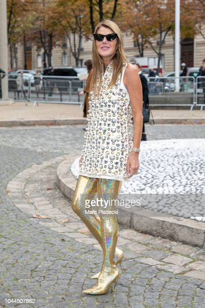 Anna Dello Russo attends the Miu Miu show as part of the Paris Fashion Week Womenswear Spring/Summer 2019 on October 2, 2018 in Paris, France.