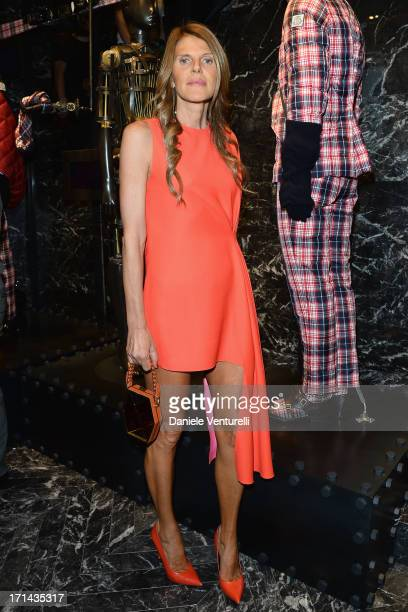 Anna Dello Russo attends the Moncler cocktail party during Milan Menswear Fashion Week Spring Summer 2014 show on June 24, 2013 in Milan, Italy.