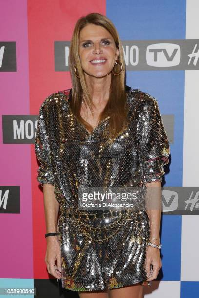Anna Dello Russo attends the 'Moschino x HM' launch collection photocall on November 7 2018 in Milan Italy