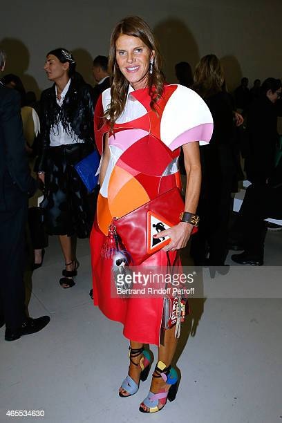 Anna Dello Russo attends the Nina Ricci show as part of the Paris Fashion Week Womenswear Fall/Winter 2015/2016 on March 7 2015 in Paris France